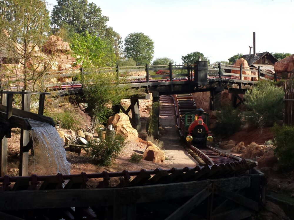 The walls around Big Thunder are down and Cast Member previews are underway.  It reopens on the 17th