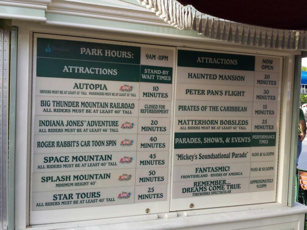 #Disneyland waits as of 4:26pm