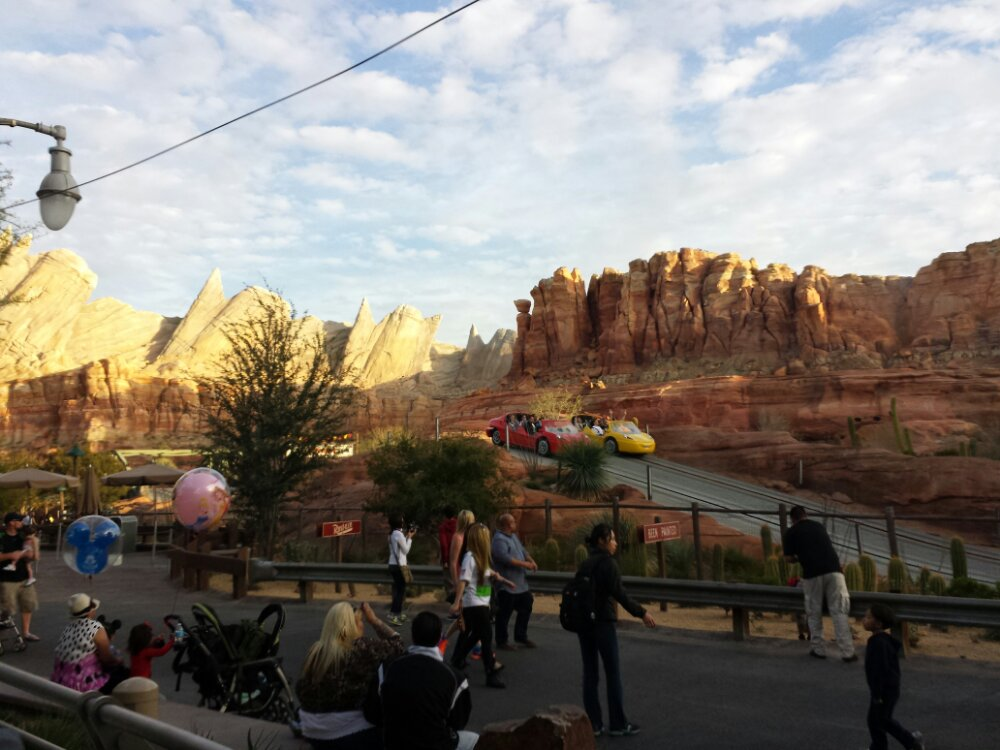 My view for dinner this evening #CarsLand