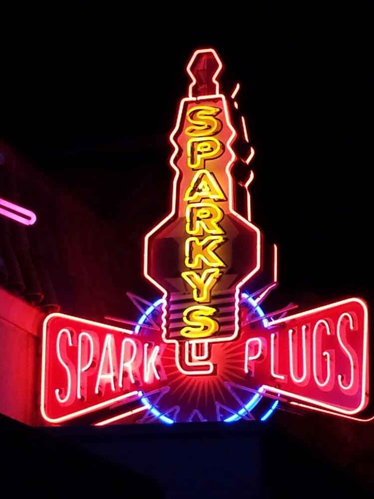 Sparkys neon sign #CarsLand