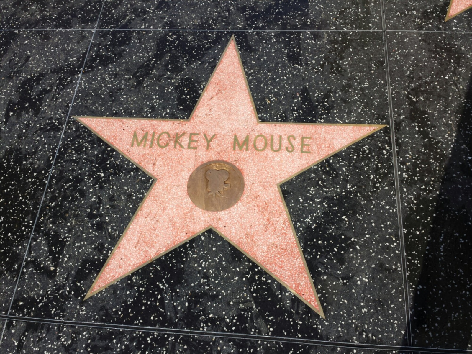 Mickey's star on Hollywood Blvd.