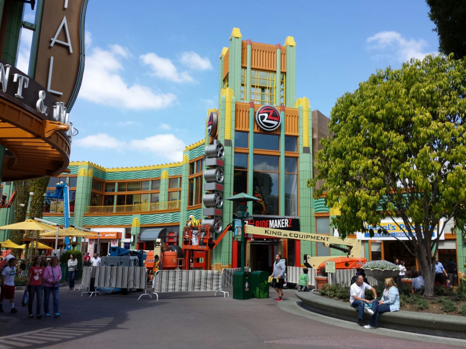 Arriving at #Disneyland Resort today via Downtown Disney.  Exterior painting in progress this afternoon.