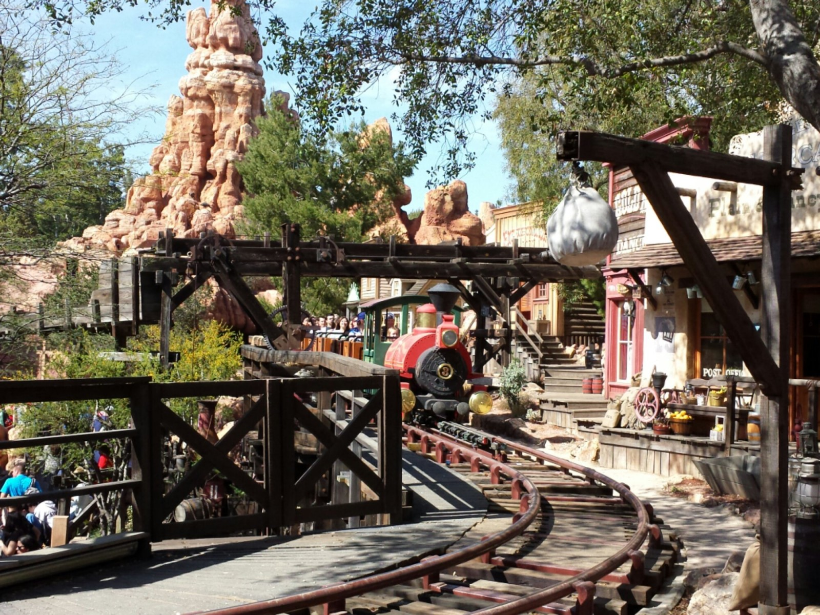 A Big Thunder train returning from its adventure