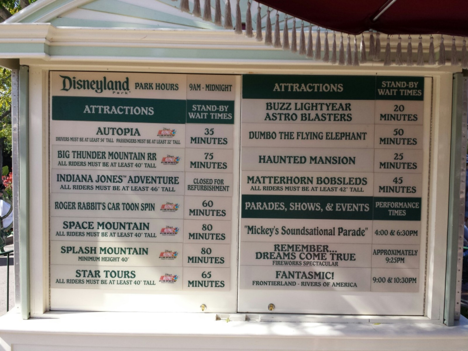 #Disneyland wait times at 3:20pm