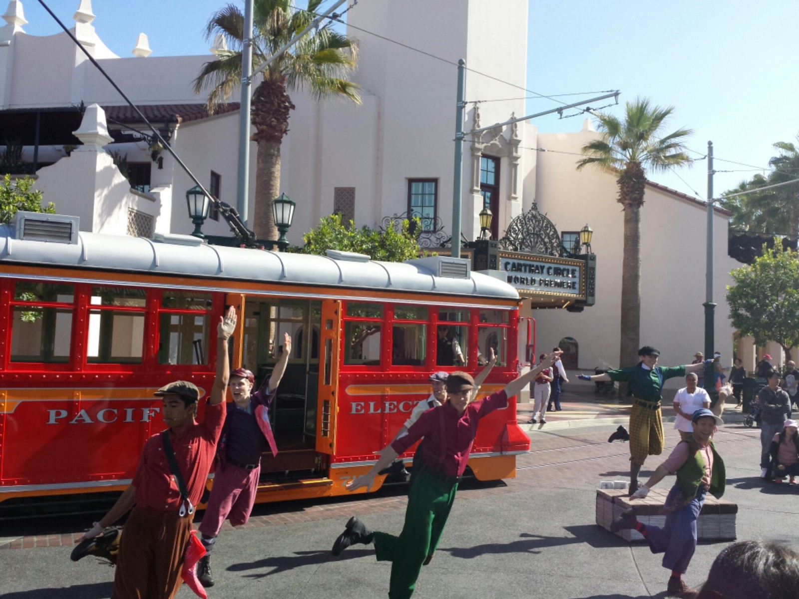 The Red Car News Boys performing in Carthay Circle #BuenaVistaStreet