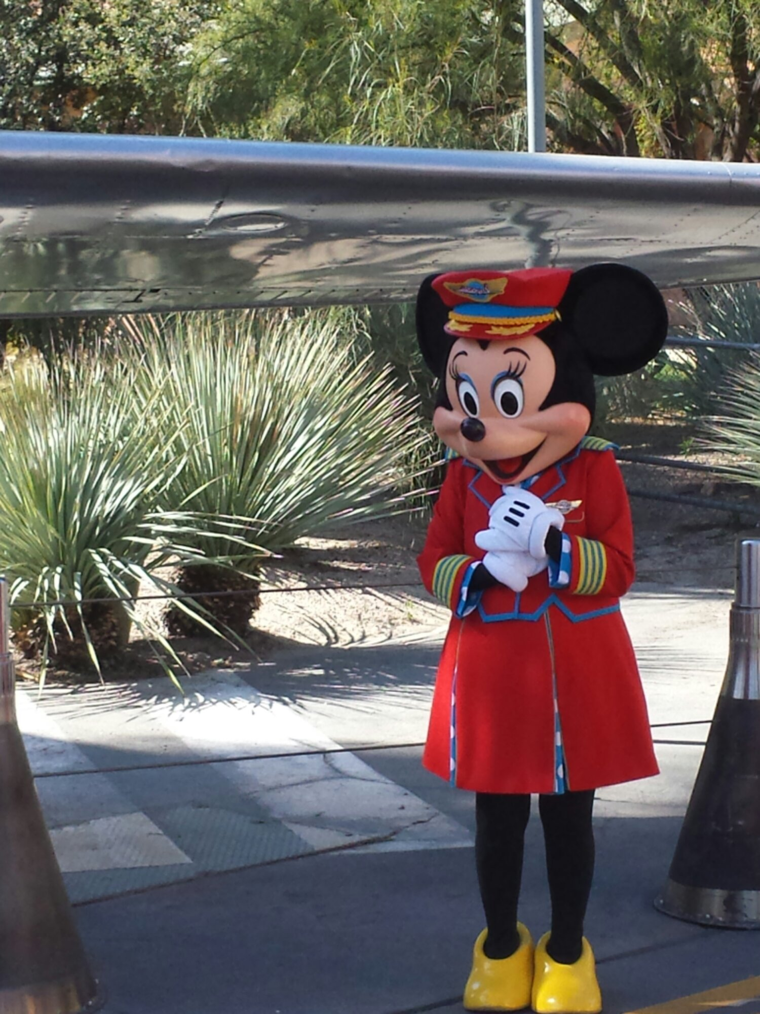 Even though the show is long gone Minnie still greets guests in Condor Flats in her Fly Girls costume