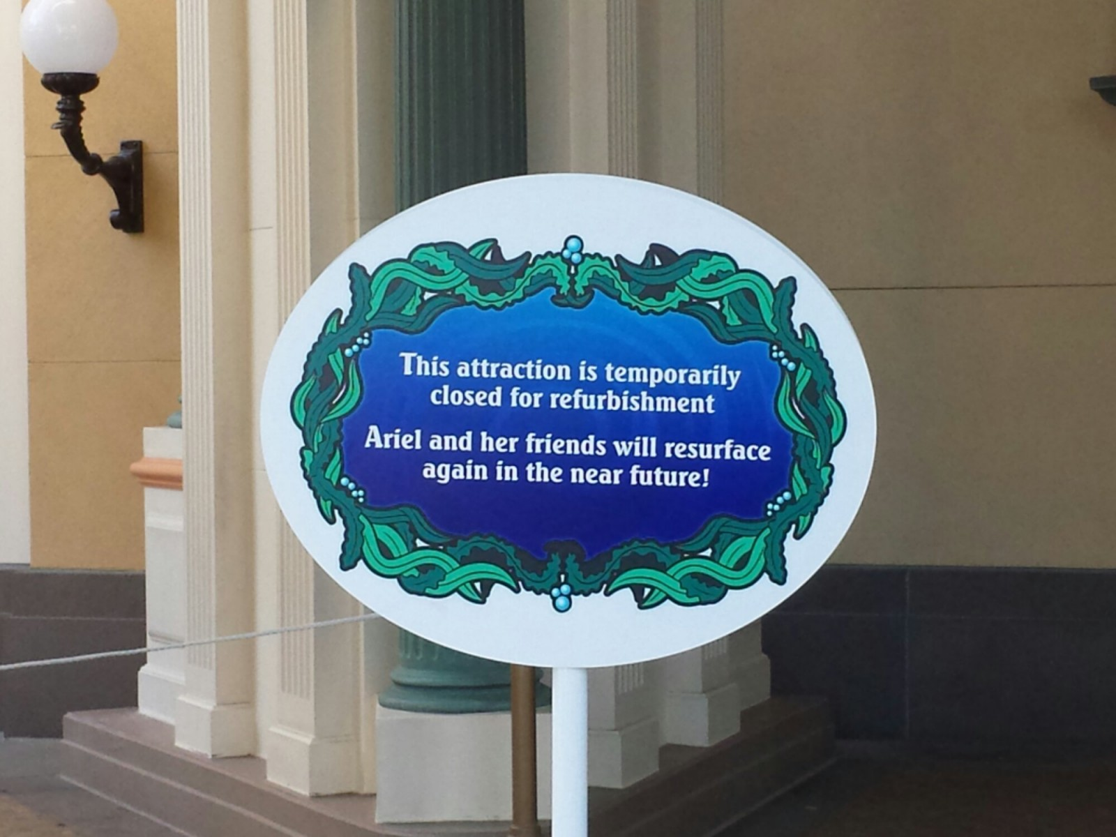 The Little Mermaid is closed for renovations