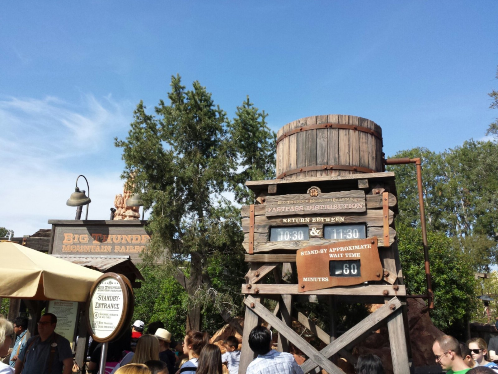 Big Thunder has an hour stand by and return time of 10:30 as of 3:45