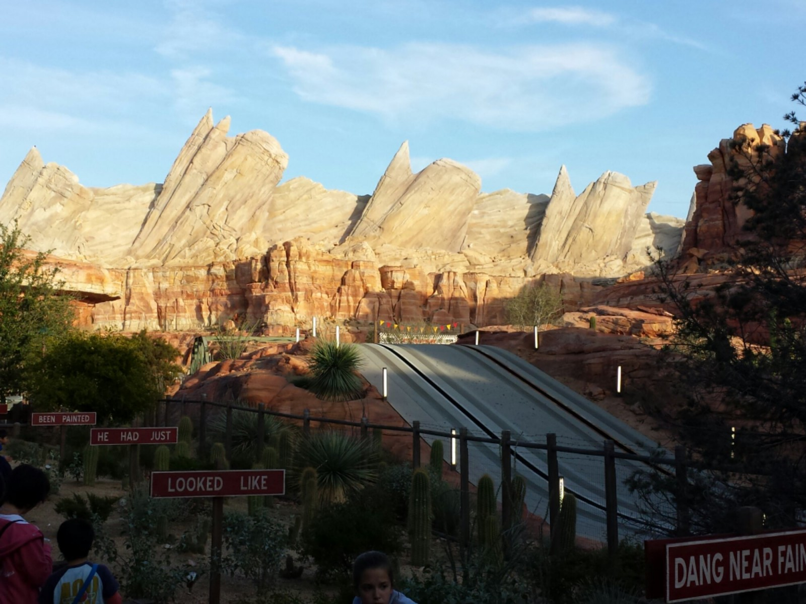 Fyi the Radiator Springs Racers are down..  a picture of Ornament Valley #CarsLand