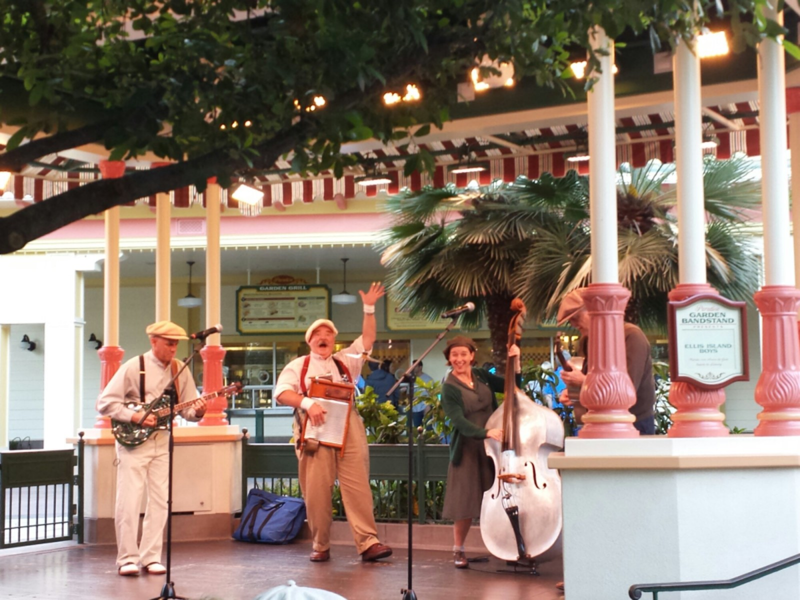 The Ellis Island Boys performing at Paradise Garden Bandstand