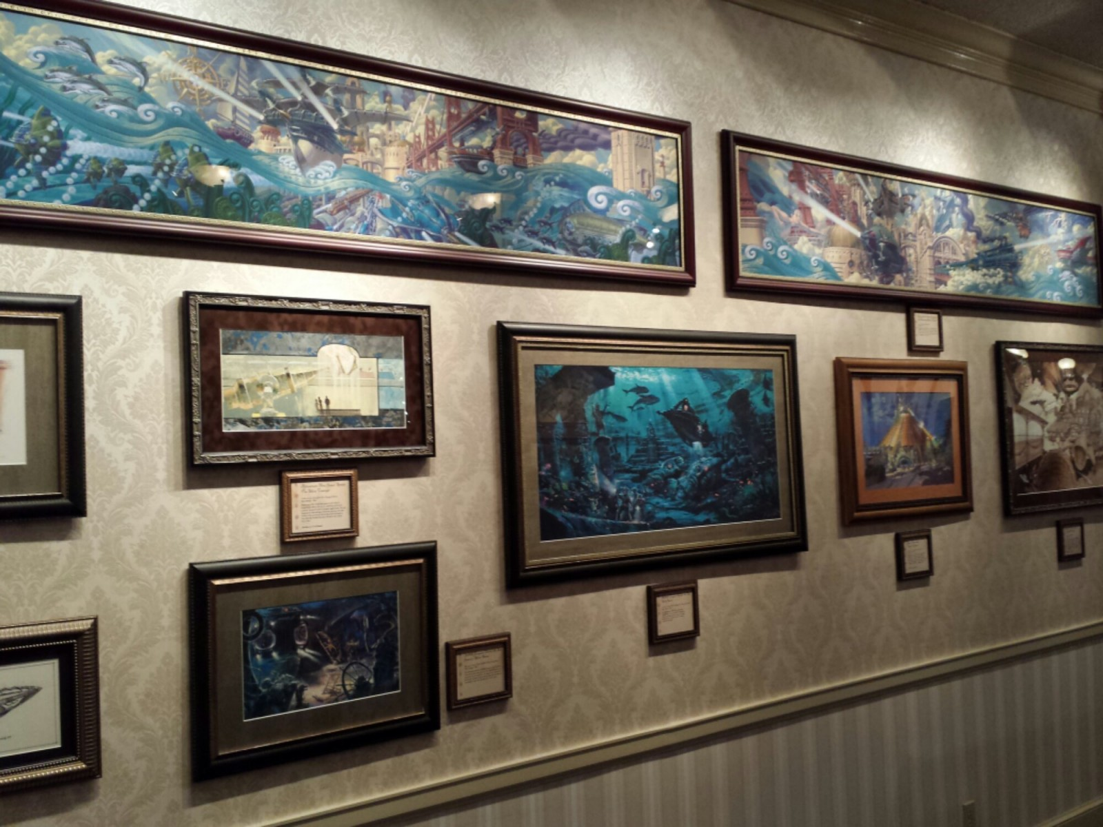 Stopped by the Mechanical Kingdoms exhibit in the Disney Gallery on Main Street