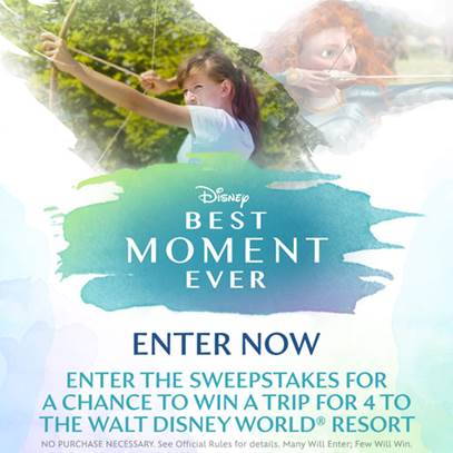Disney.com's Best Moment Ever sweepstakes Information