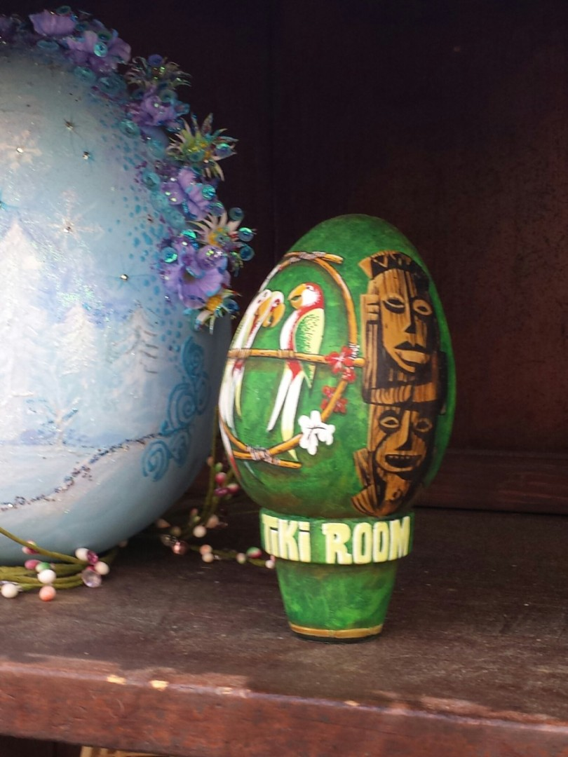 A Tiki room inspired egg at the Springtime Roundup