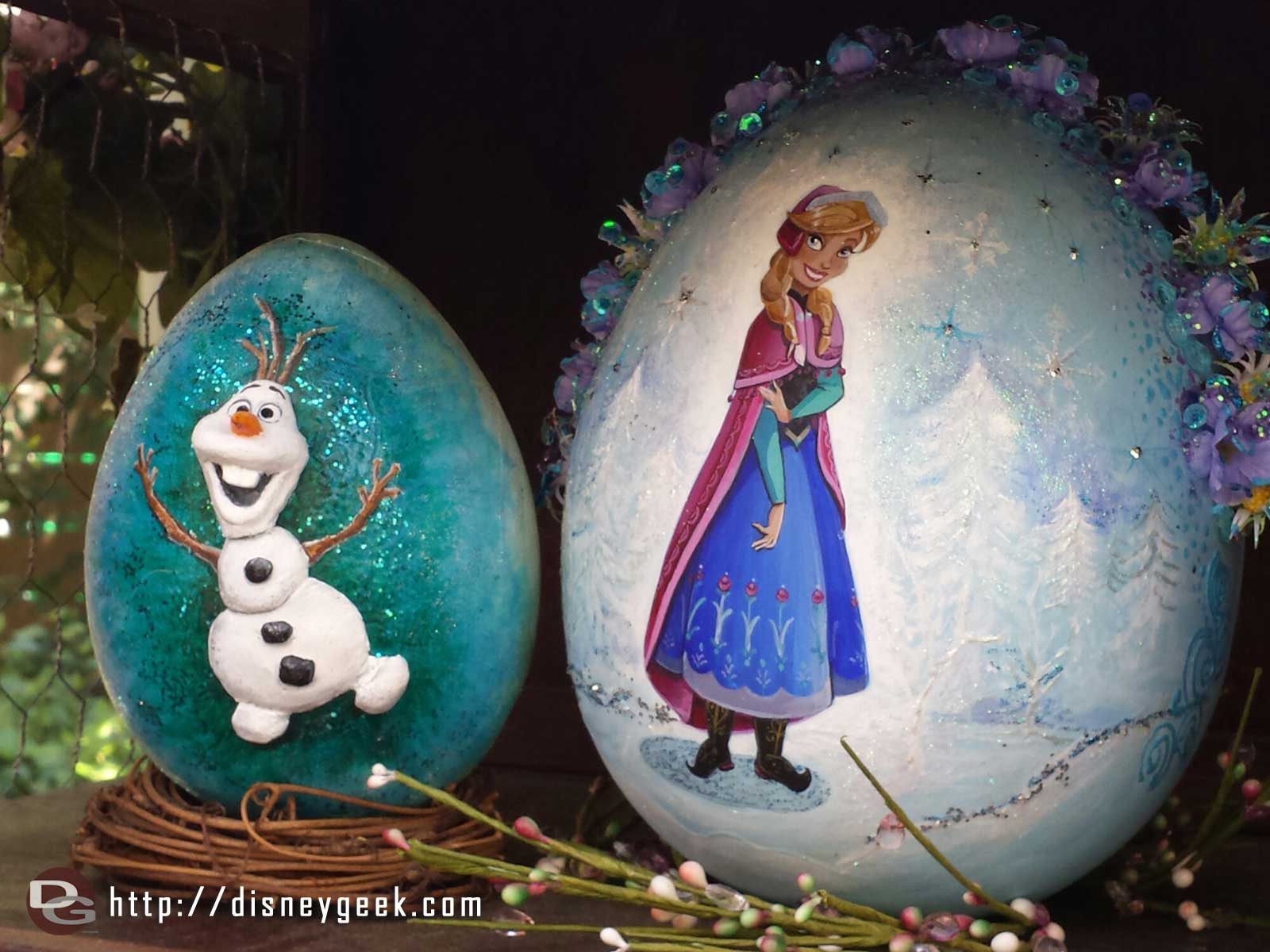 A couple more eggs, Anna and Olaf at the Springtime Roundup