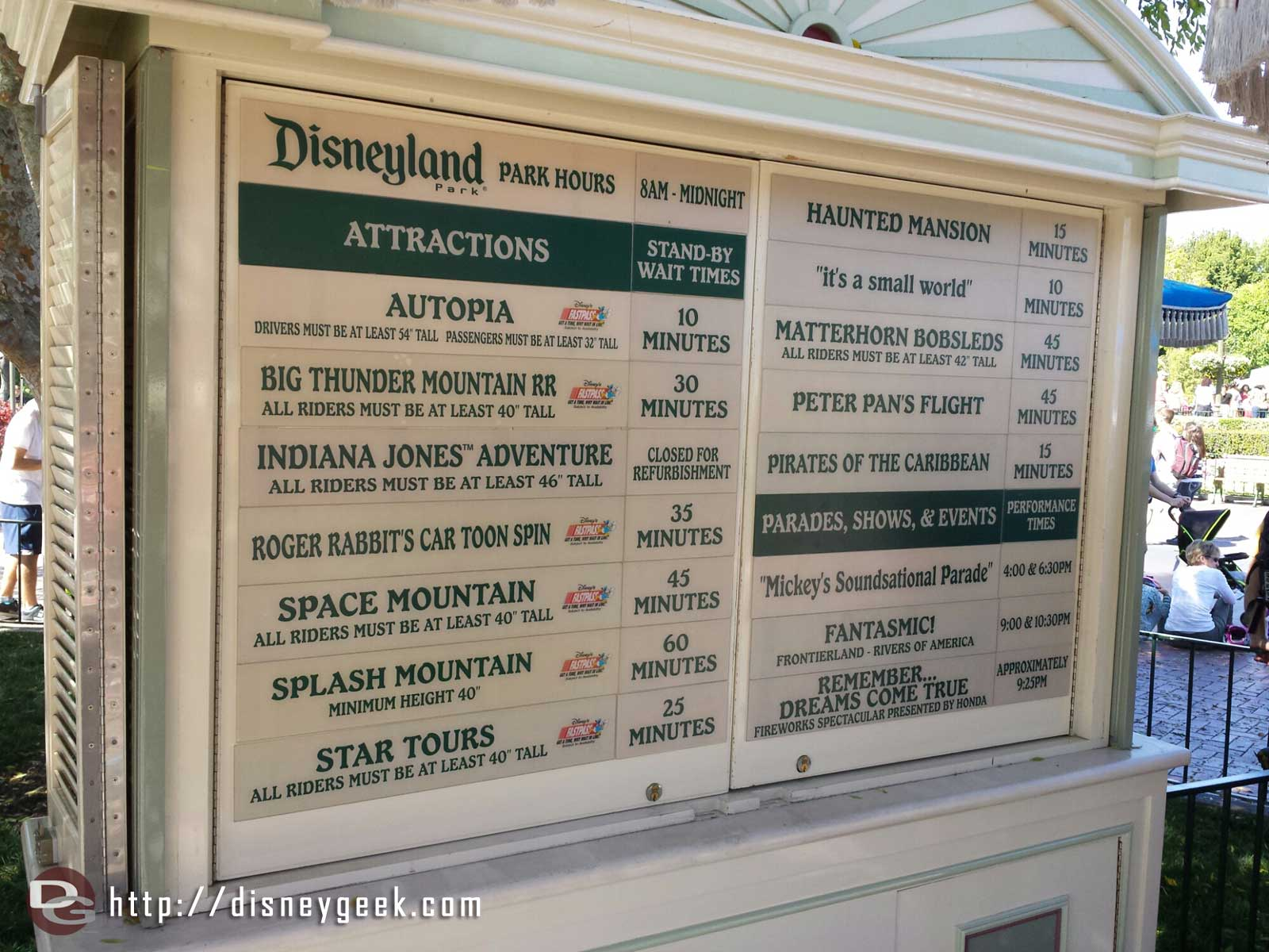 #Disneyland wait times around 3:15pm