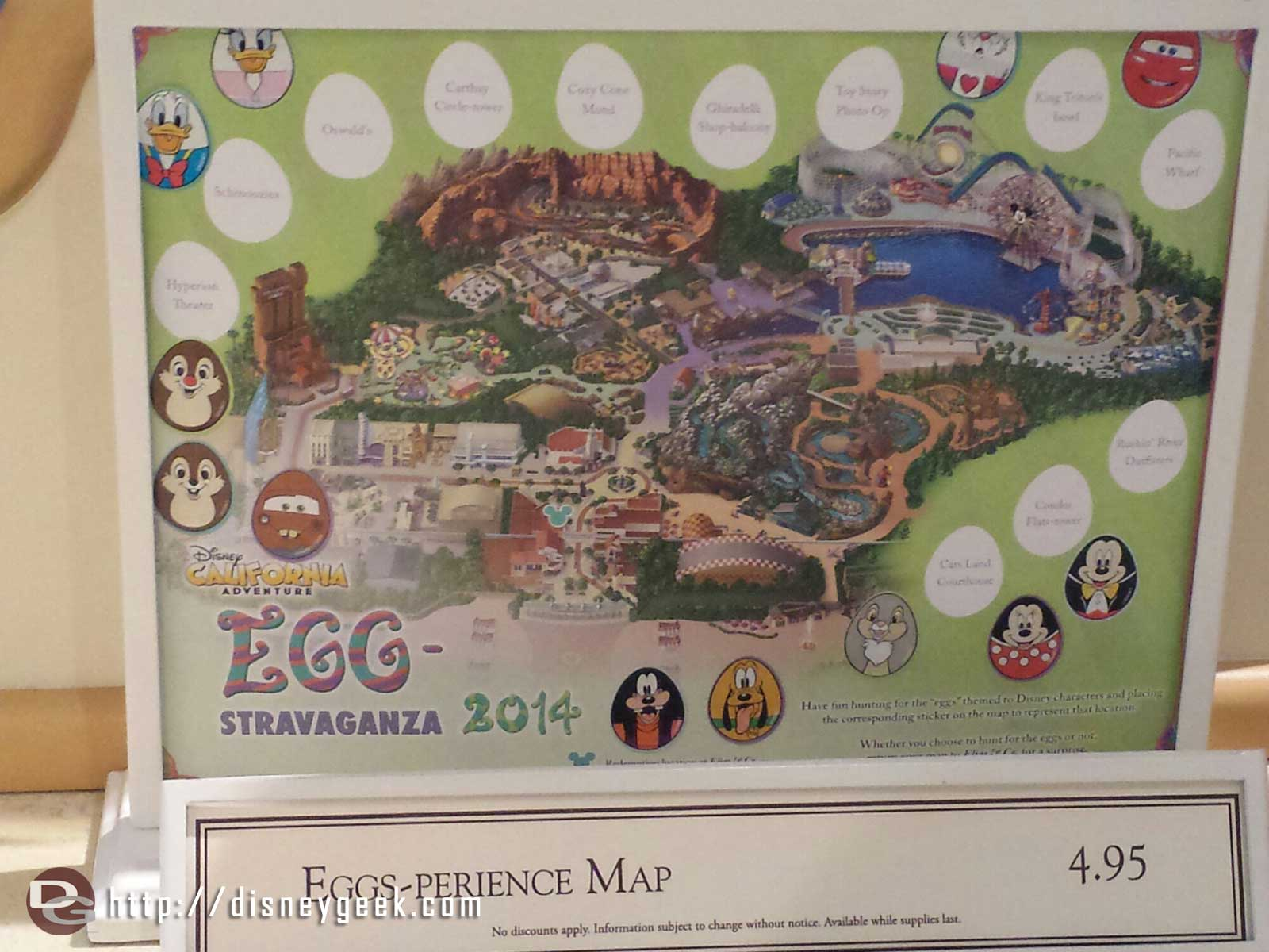 DCA also has an egg-perience going on.  Here is the map
