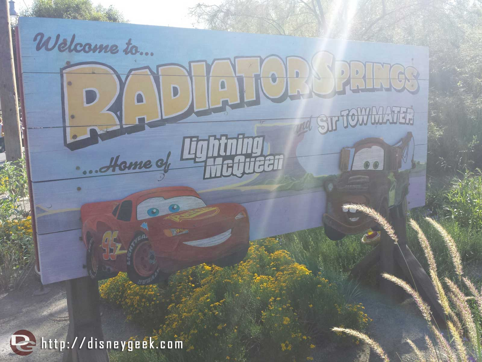 Welcome to Radiator Springs sign #CarsLand