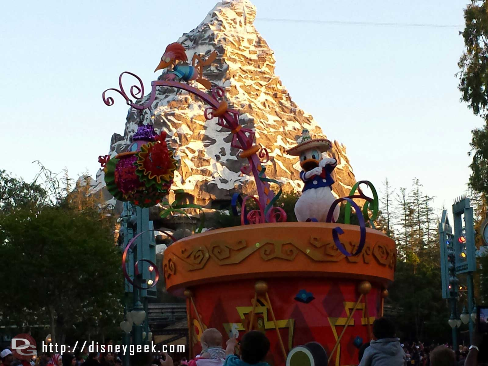 Donald in Soundsational with the Matterhorn in the background