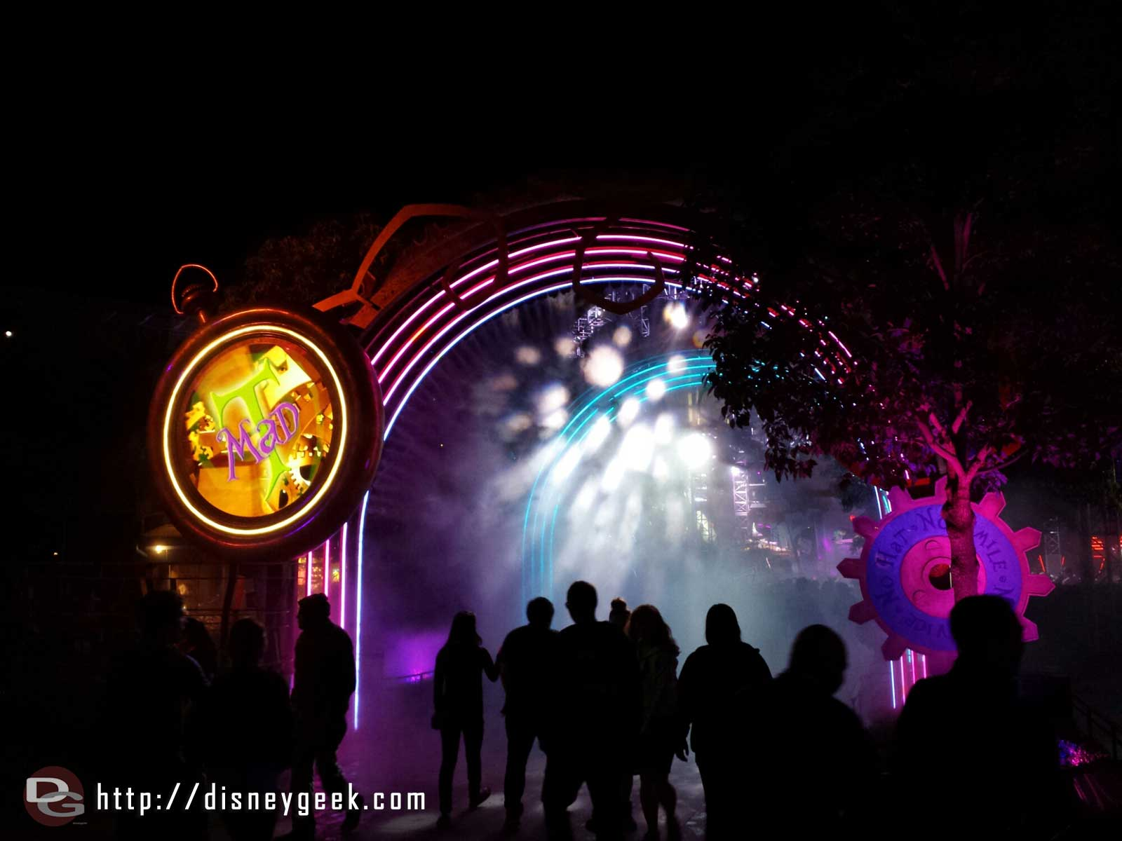 Entering the #MadTParty area of Hollywood Land