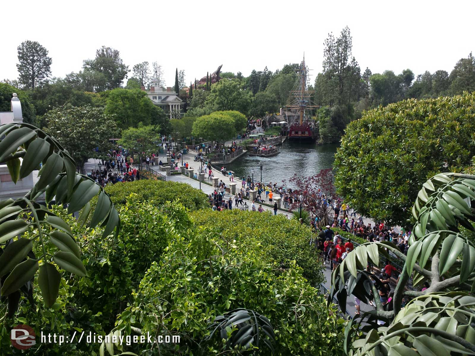 The view from Tarzan's Treehouse of the Rivers of America