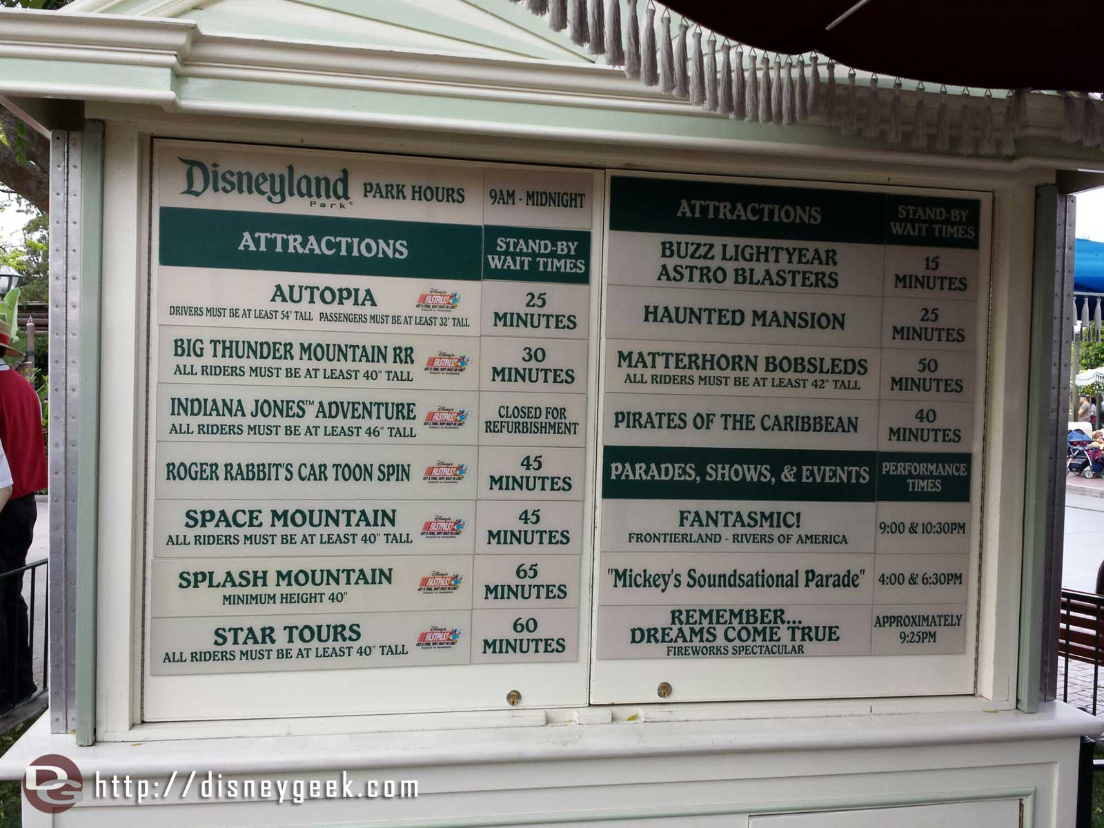 #Disneyland wait times around 3pm