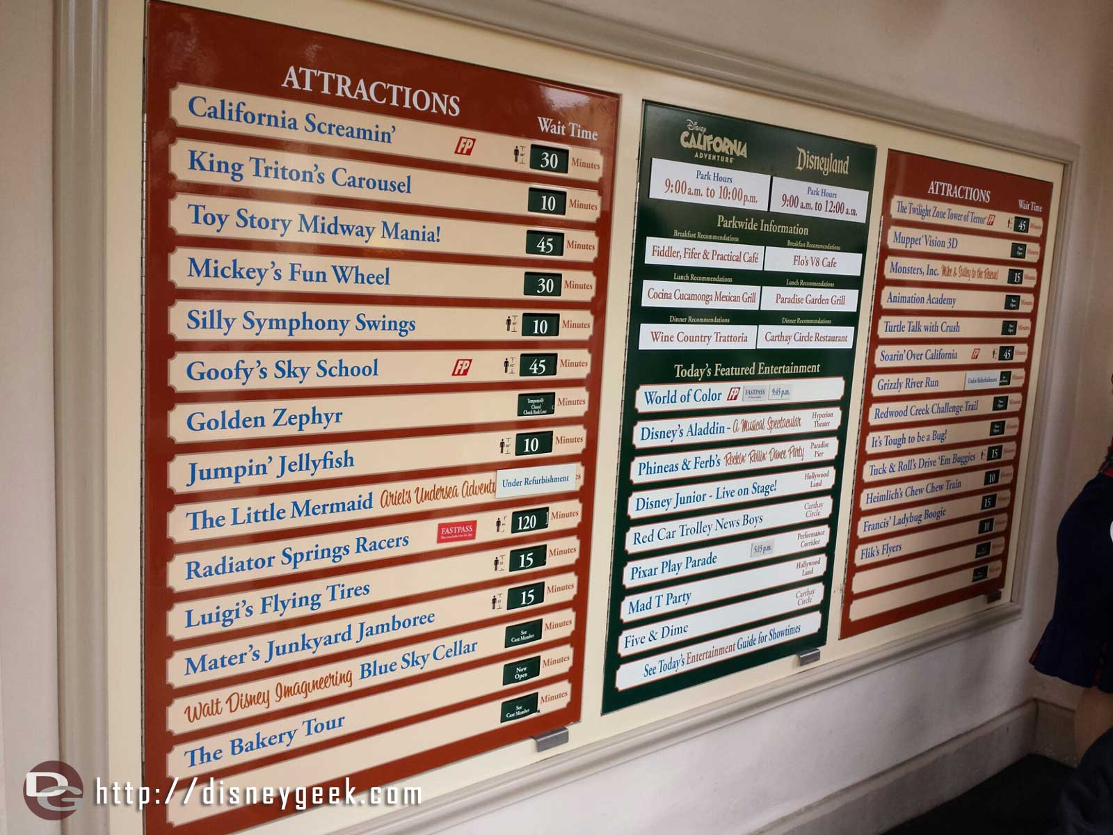 DCA wait times at 3:25pm