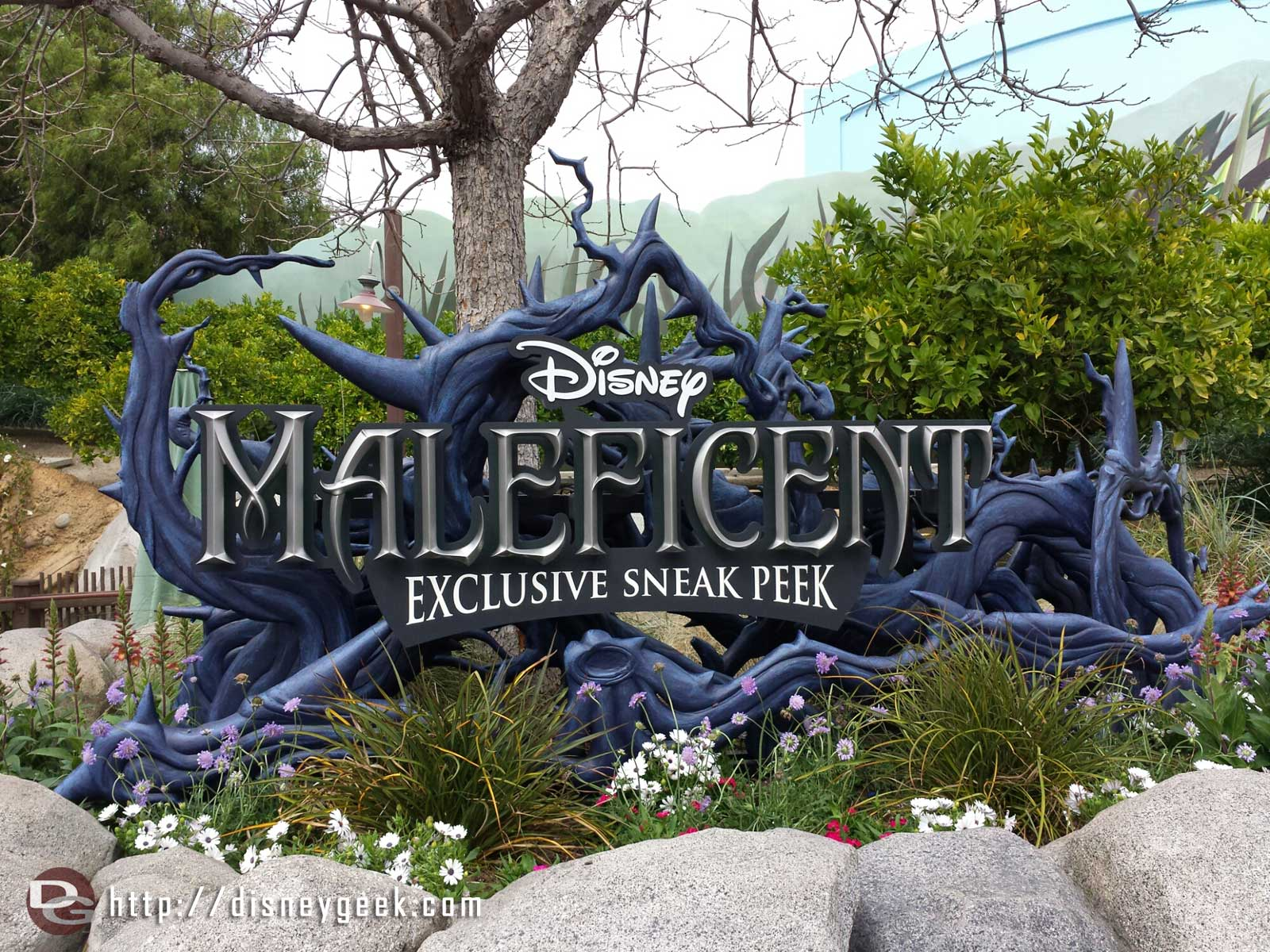 A Maleficent preview has taken over the Bugs theater