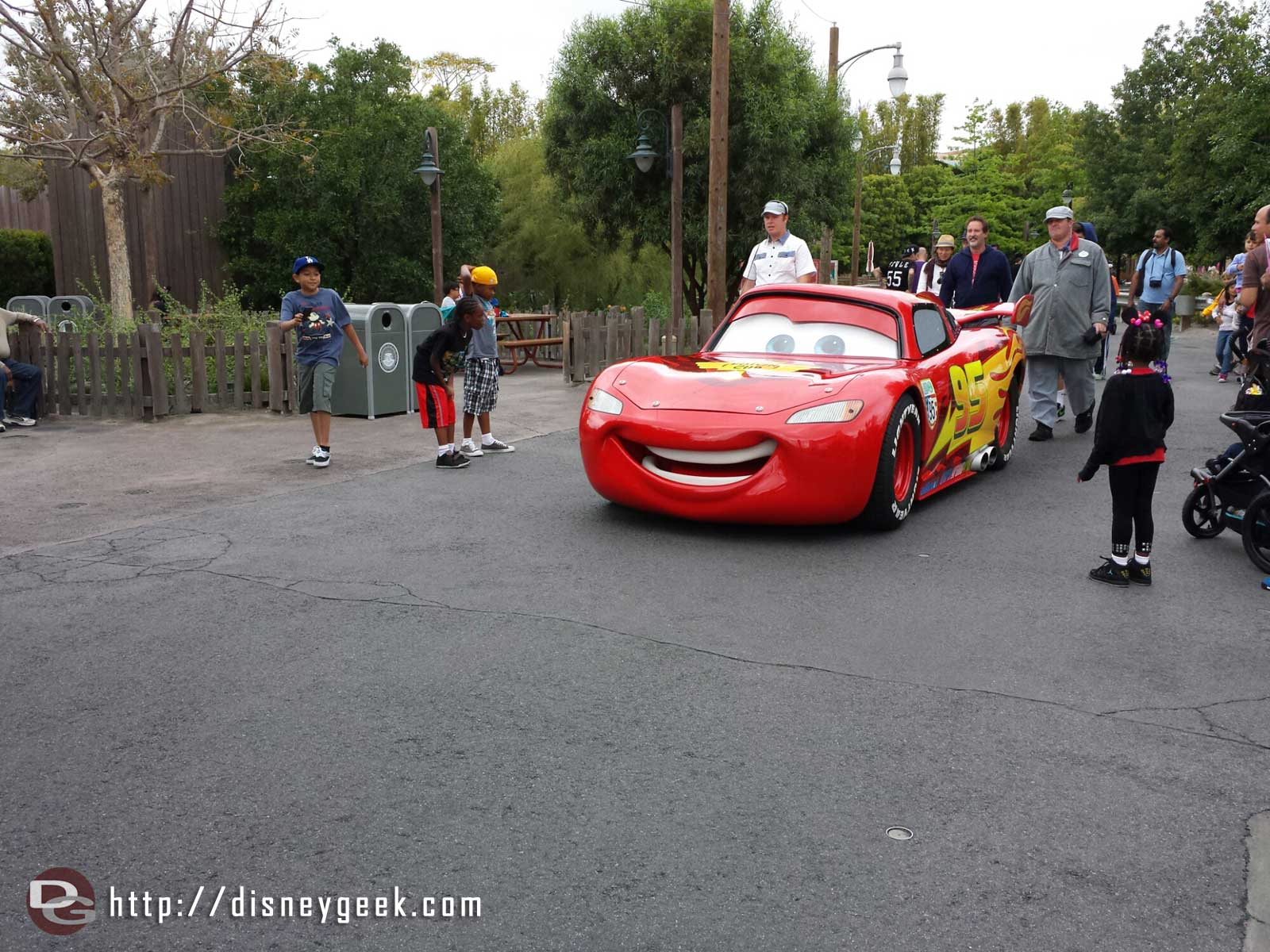 Lightning on his way to the Cozy Cone #CarsLand