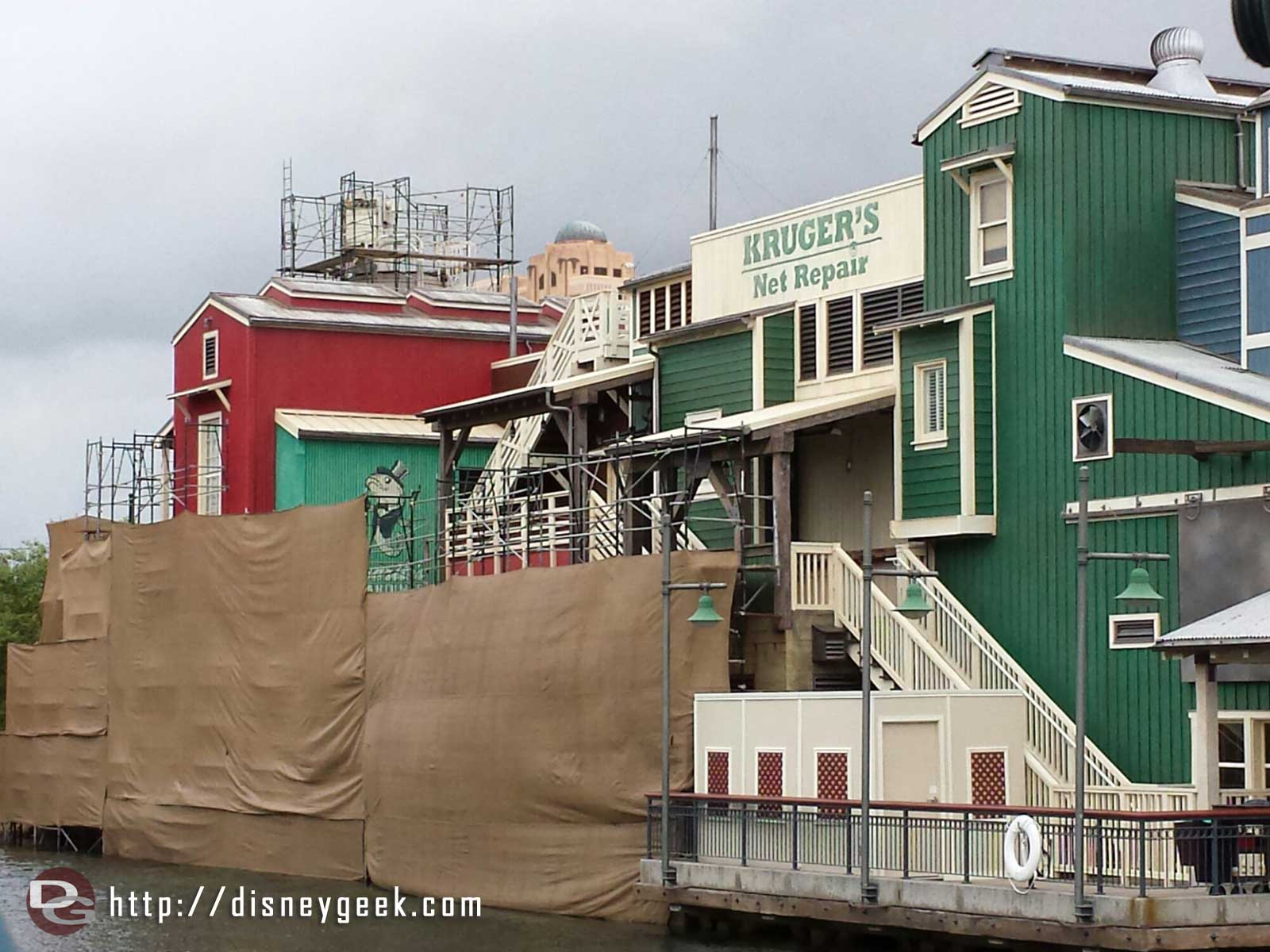 More of the Pacific Wharf work is complete