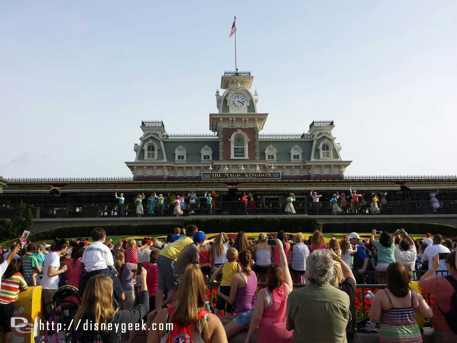 Arrived at the Magic Kingdom entrance just as the train was arriving for the opening.