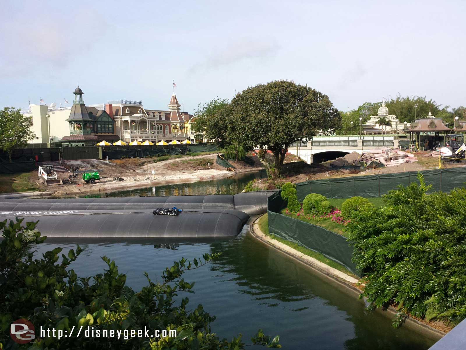 The hub project is underway.  Here is a look from the Tomorrowland bridge