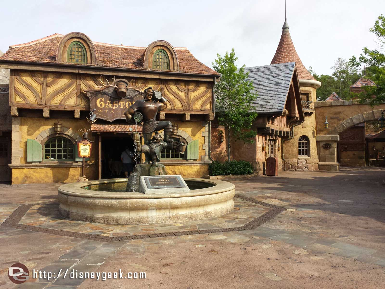 Belle's Village is quiet this morning.  #WDW Magic Kingdom #Gaston Tavern