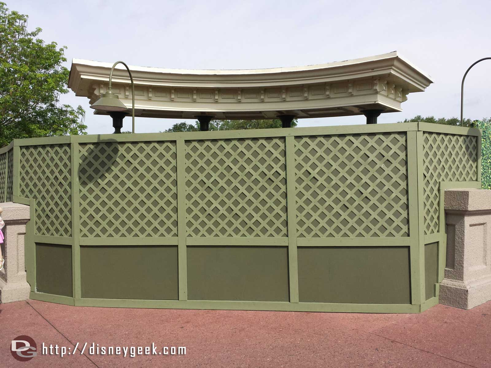 No Magic Kingdom lineboard pics this trip since its behind the walls and looks like its being removed.