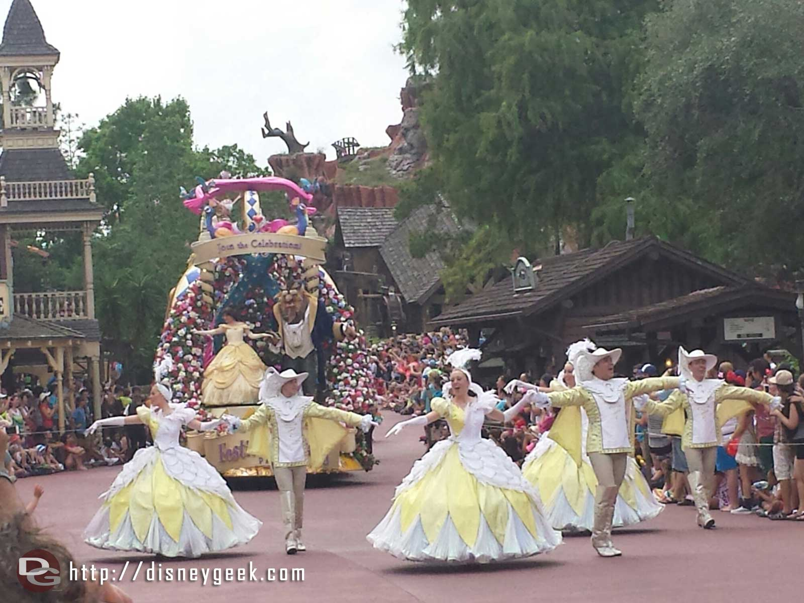 Beauty & the Beast lead the Festival of Fantasy parade #WDW Magic Kingdom