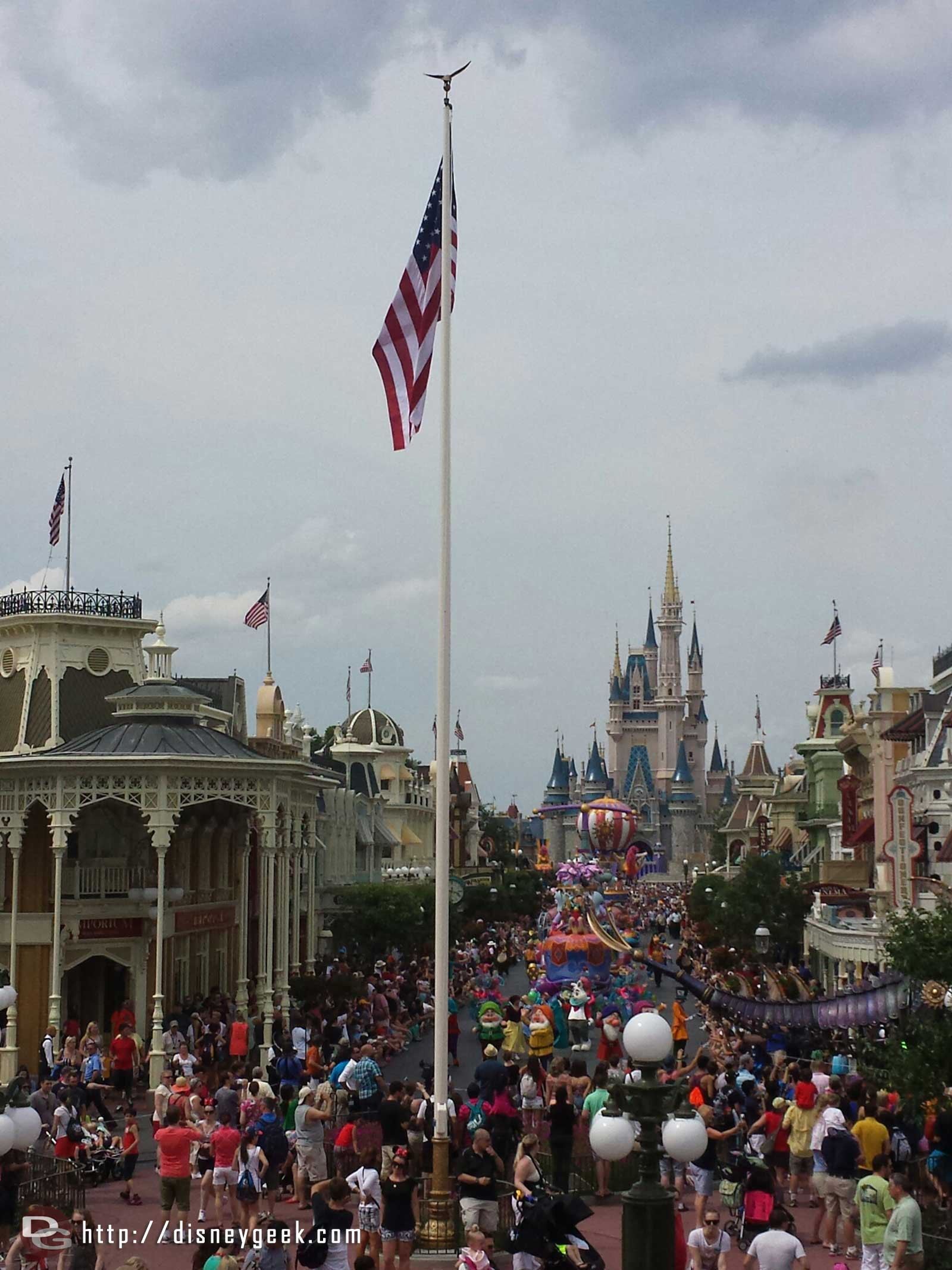 Festival of Fantasy parade #WDW Magic Kingdom making its way down Main Street