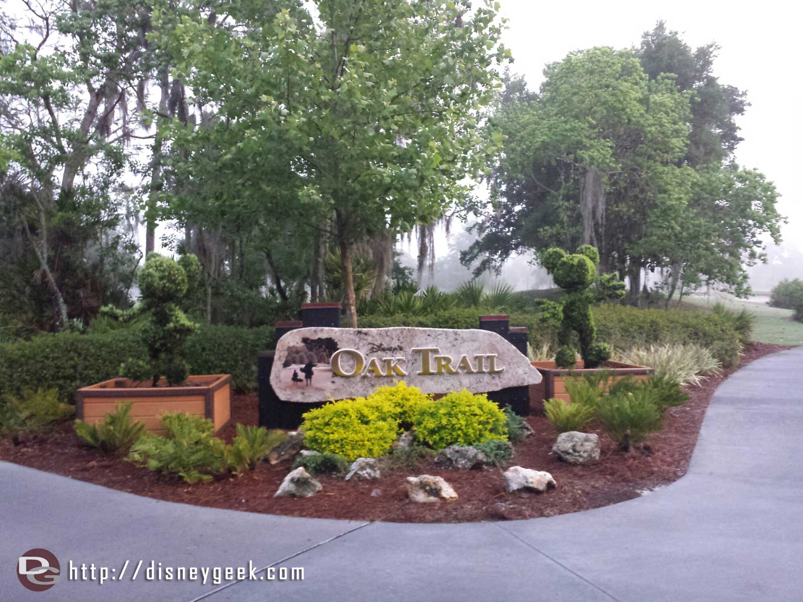 The entrance to Disney's Oak Trail course