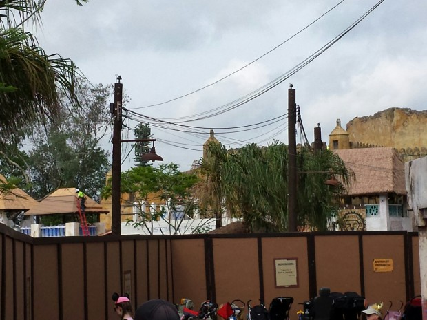 Disney's Animal Kingdom - New Festival of the Lion King Theater construction