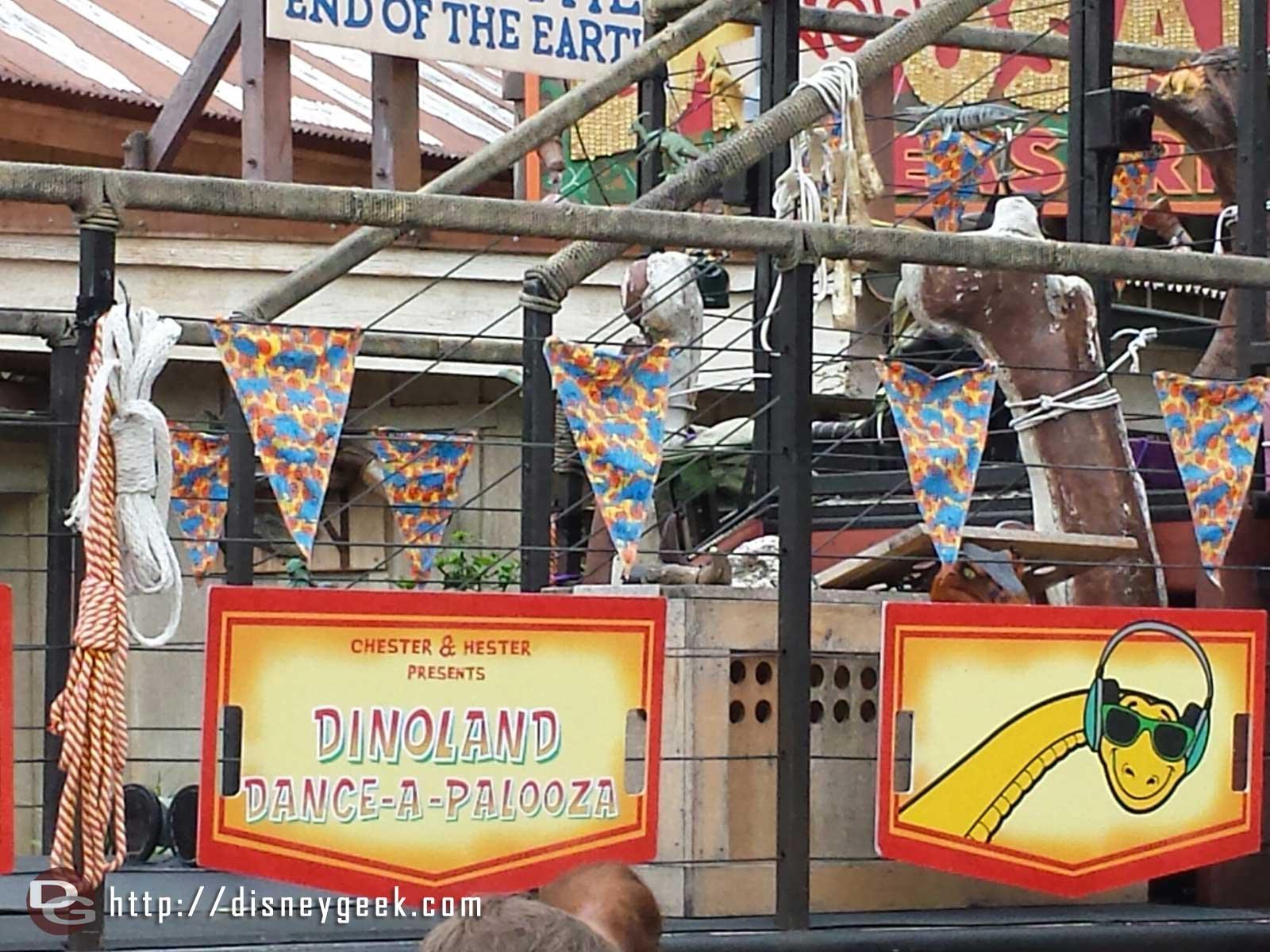 Dinoland Dance-a-Palooza signage – Disney's Animal Kingdom
