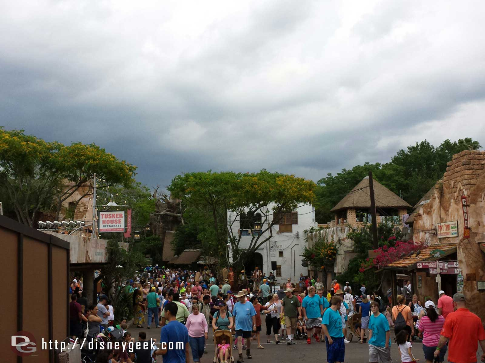 Looks like today storm is moving in…  – Disney's Animal Kingdom