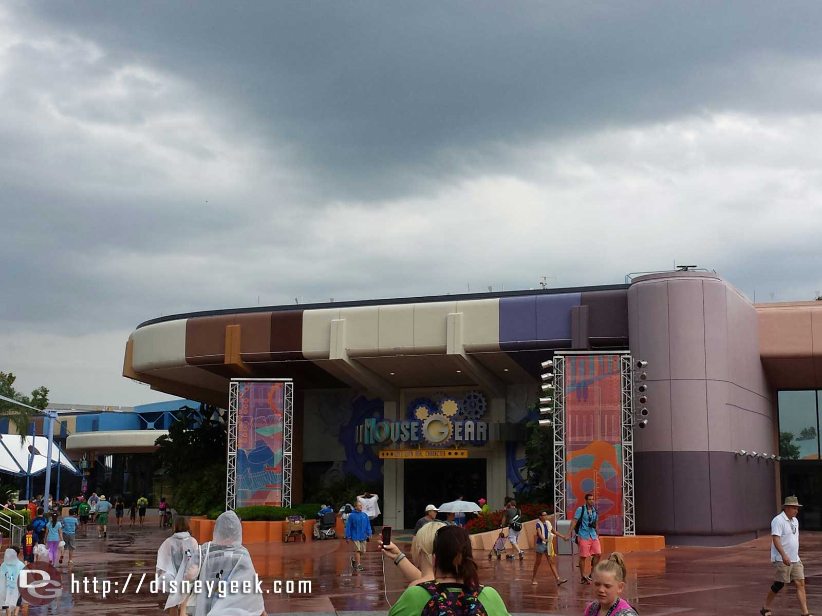 The new innovations building paint scheme is … different.. not sure how to describe it – Epcot