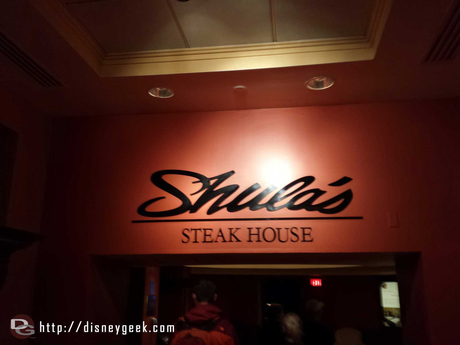 Made it Shula's for dinner