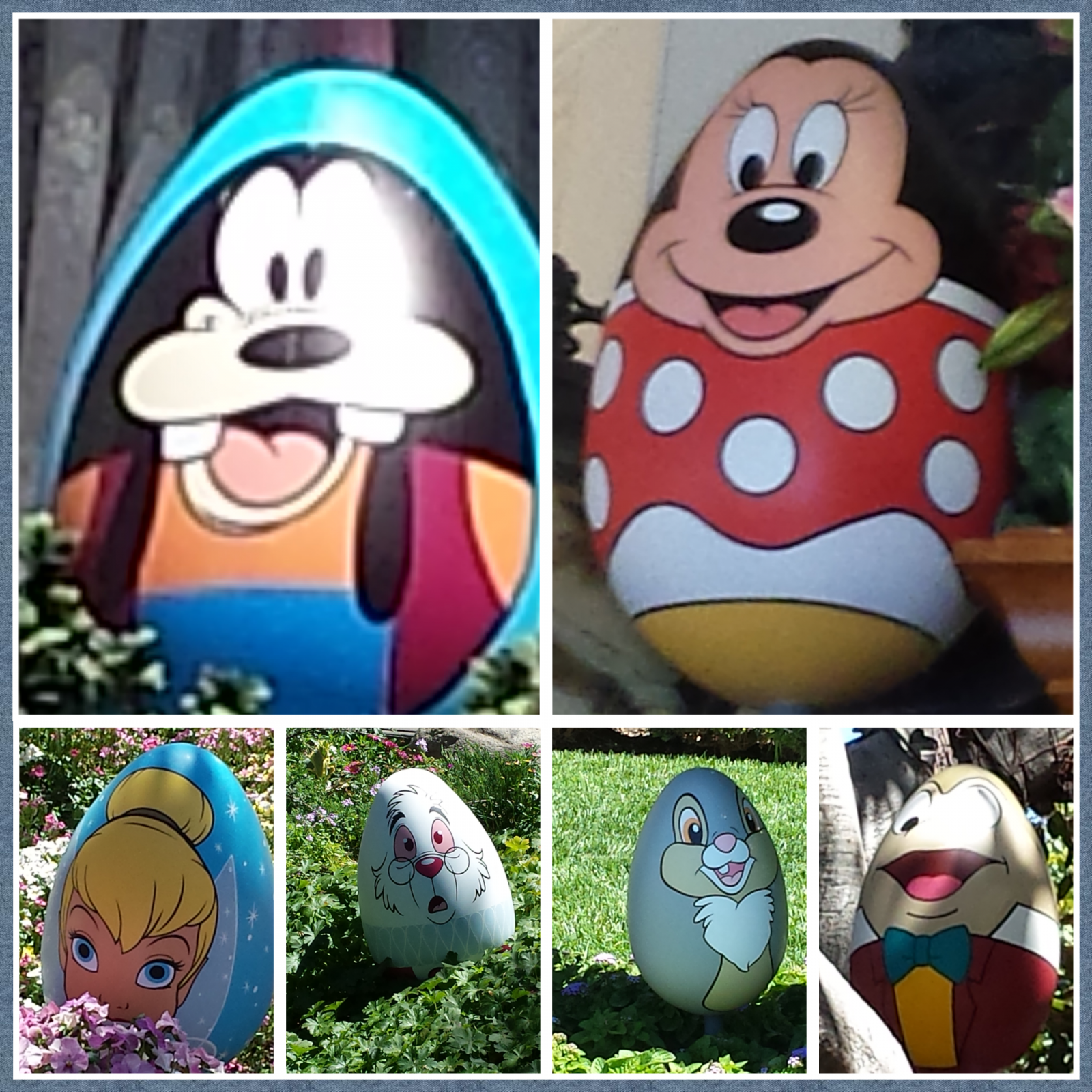 6 of the 12 eggs from the #Disneyland egg-stravaganza 2014. Tomorrow in the full update will post all 24 showing their locations