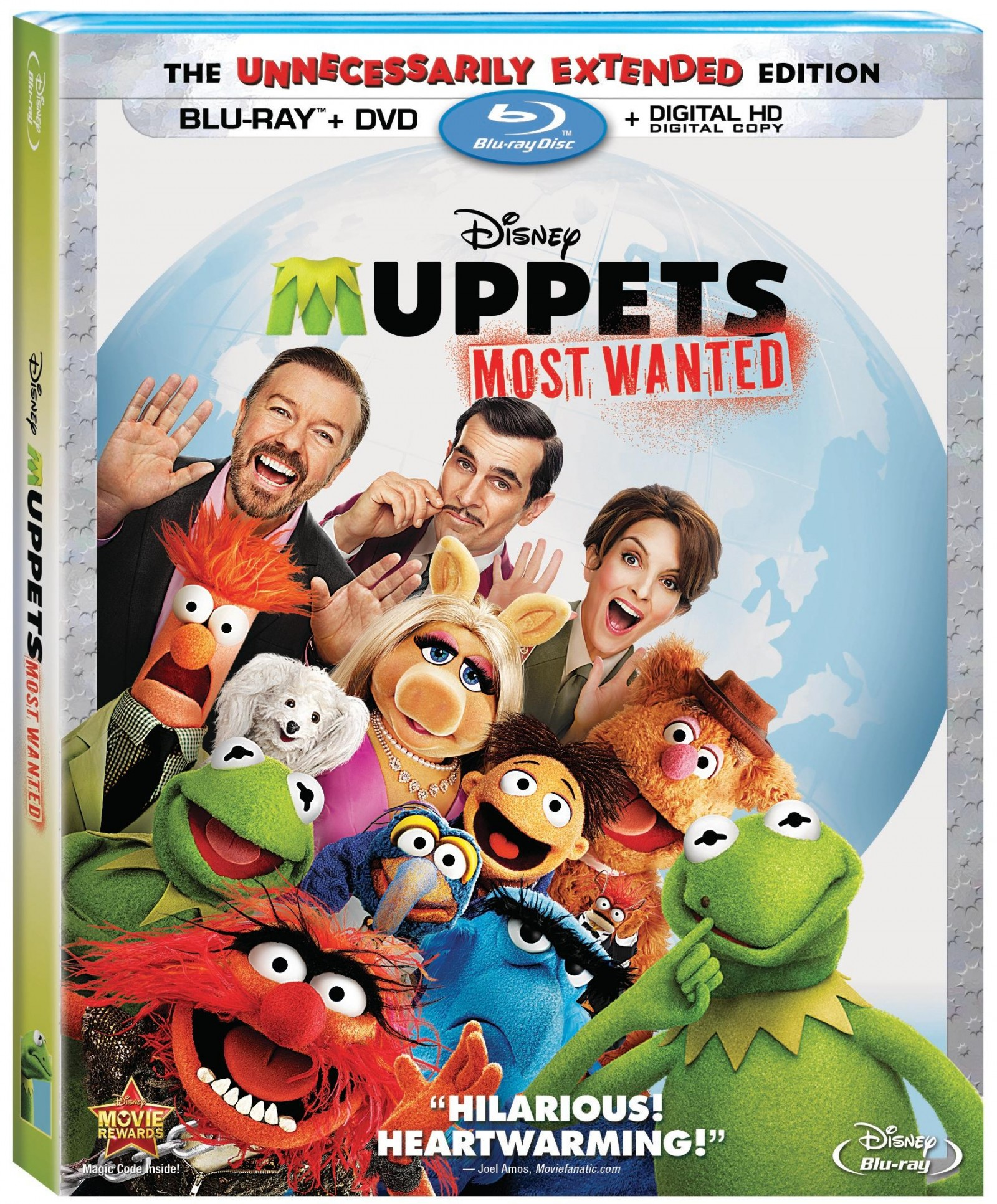 Disney's Muppets Most Wanted on Bly-ray, DVD & Disney Movies Anywhere August 12th