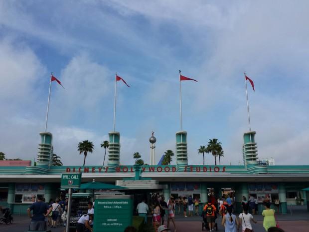 Arriving at Disney's Hollywood Studios themepark