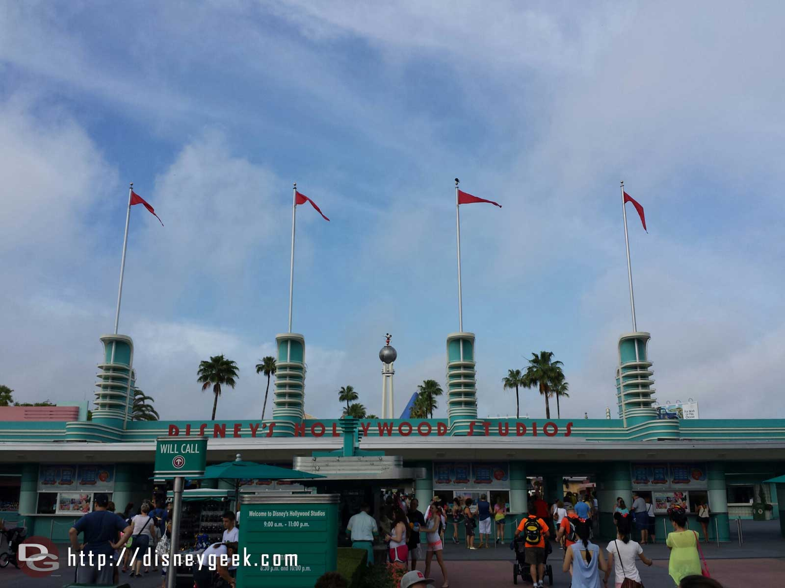 Arriving at Disney's Hollywood Studios themepark