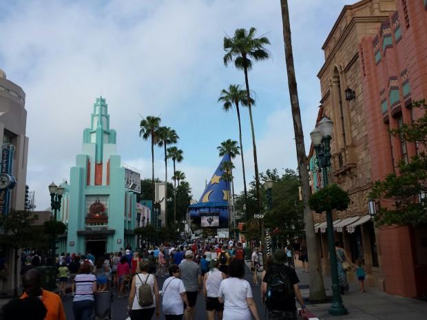 Hollywood Blvd this morning at Disney's Hollywood Studios