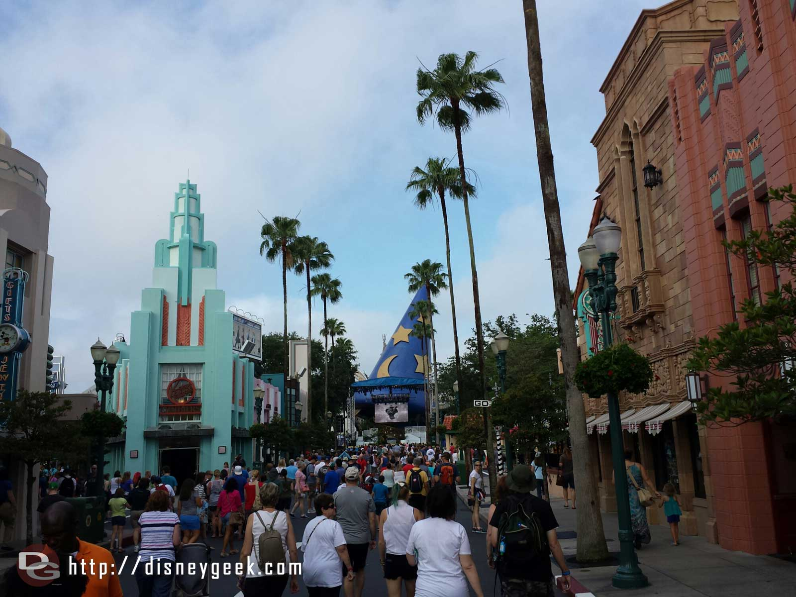Hollywood Blvd this morning at Disney's Hollywood Studios