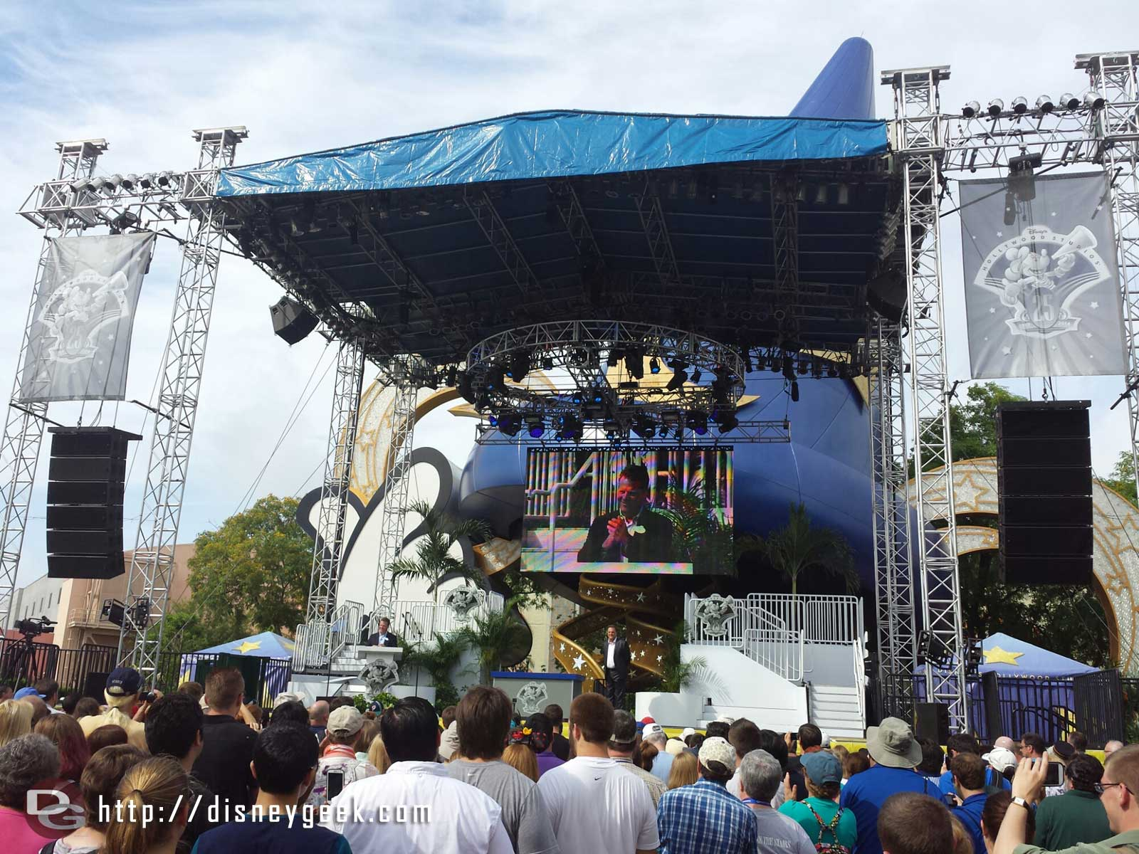 The rededication ceremony started at 10am – Disney's Hollywood Studios