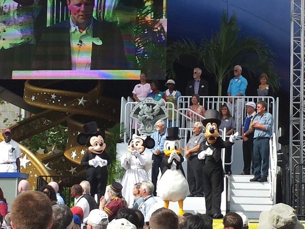 Mickey, Minnie, Donald, and Goofy at the 25th Anniversary Re-dedication of Disney's Hollywood Studios
