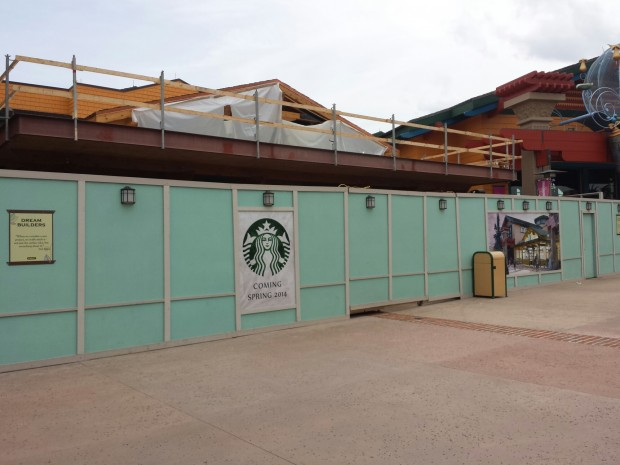 1 of 2 Starbucks under construction, this one by World of Disney